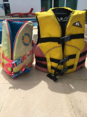 Children's life vest for jet ski or banana boat use