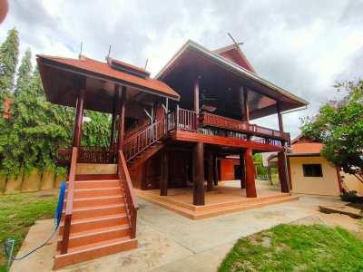 Fabulous 4 BR 4 Bath Pranburi Teakwood Riverfront Estate  on Big Plot