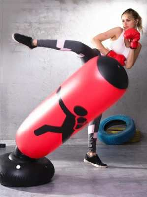 Inflatable Boxing/Punch Bag, New