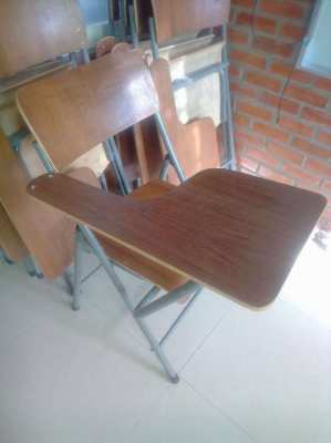 Wooden Classroom Chair  and Desk (8, as shown)