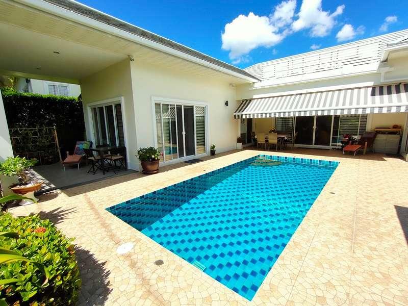 Furnished 3 BR 4 Bath Pool Villa Less Than 1 km. to Khao Takiab Beach