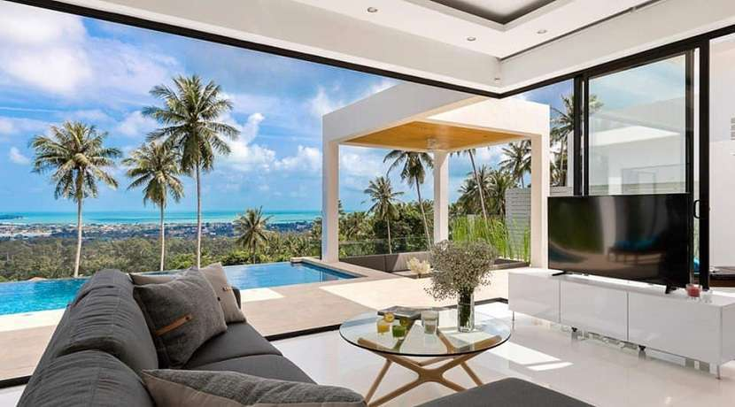 For sale villa sea view in Chaweng Hills Koh Samui