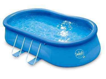 New oval frame pool on sale