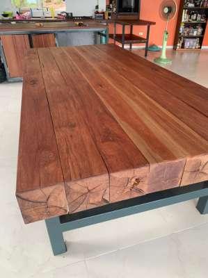 Dining table Hard wood steel