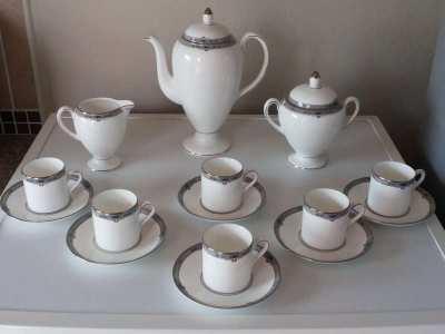 Wedgwood Bone China Coffee Set For Sale