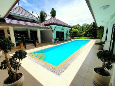 Unfurnished 4 BR 4 Bath Pool Villa Two Guesthouses Large Corner Plot