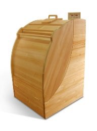 Portable siberian wood steam sauna cabin
