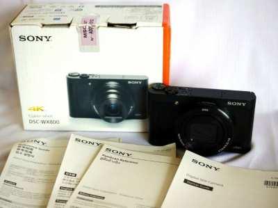 Sony WX800 4K Wi-Fi NFC Zeiss 24-720mm Digital Camera in Box