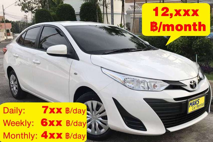 Toyta Yaris Ativ for rent - 4xx ฿/day‎ (Monthly)