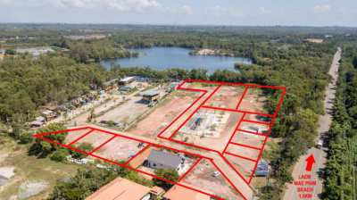 Land 10 Rai near lake for sale in Laem Mae Phim, Rayong