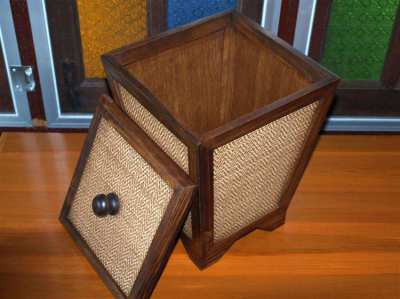 Thai Craft Home/Office Wood/Bin/Storage/Container Many Uses.