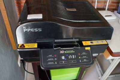 3D Sublimation Heat Transfer Vacuum System Machine