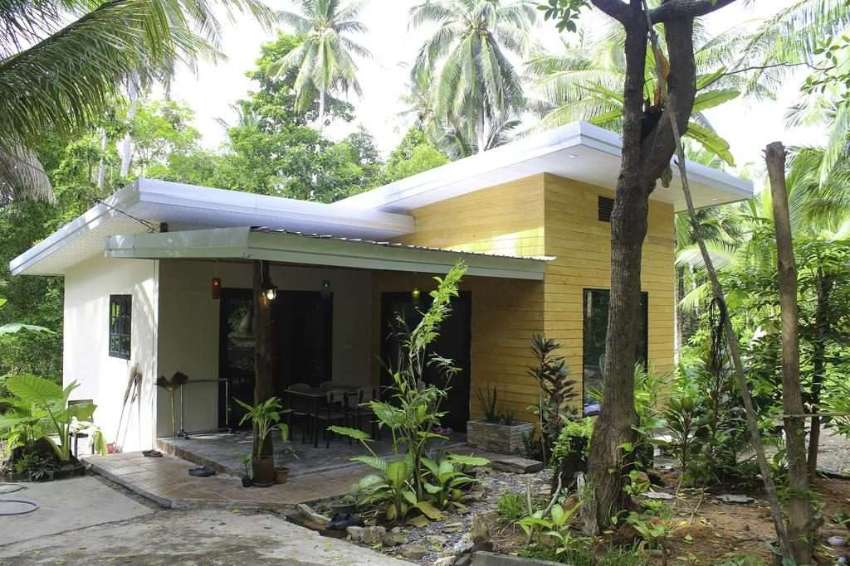 House with 5 rai of land for long term rental.