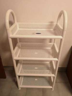 2 Plastic shelves for sale