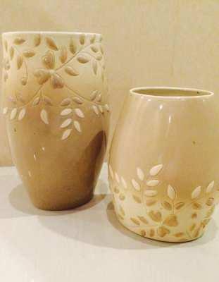 2 x Italian Design Flower Vase