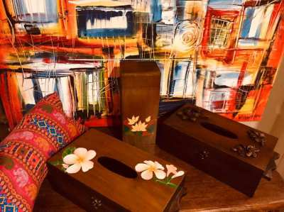Wooden boxes in Teak for sale!