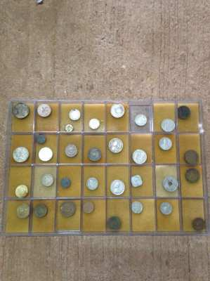 Selection of world coins