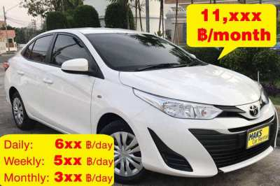 Toyta Yaris Ativ for rent - 3xx ฿/day (Monthly)