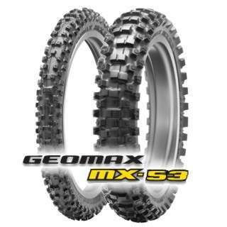 DUNLOP GEOMAX MX33 and MX53 front and back tyres