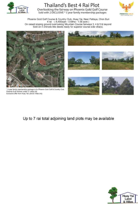 LAND FOR SALE AT  PHOENIX GOLD GOLF COURSE & COUNTRY CLUB
