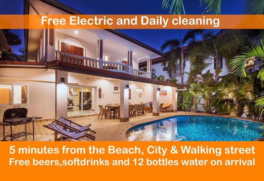 6 Bedroom Holiday Villa near the Beach in Pattaya for rent