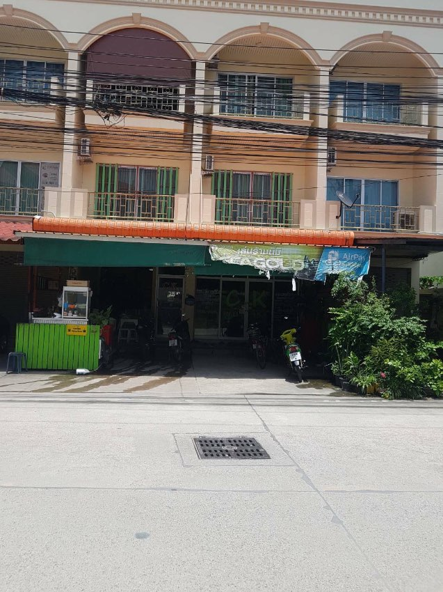 Sales of 2-storey commercial buildings, 2 booths, coordinates Nong Prue Municipality