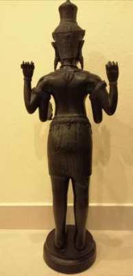"Brass standing lord shiva statue 39"""