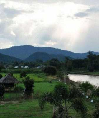 River front land in Pai for sale