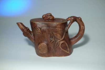 An Yixing Chinese Teapot And Cover, Qing Dynasty