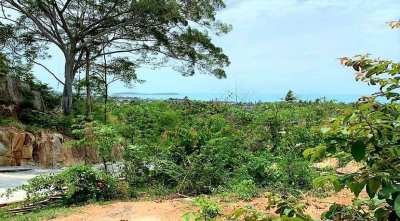 For sale sea view land in Chaweng Noi Koh Samui - 1600m²