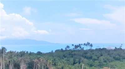 For sale  1600 sqm sea view flat land in Bophut Koh Samui