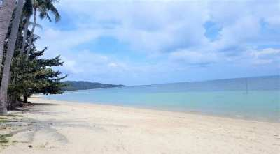 For sale land 350m²/600m² in Bang Kao Koh Samui 200 m from the beach