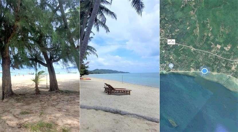 For sale Beachfront land in Laem Sor Koh Samui 1 rai