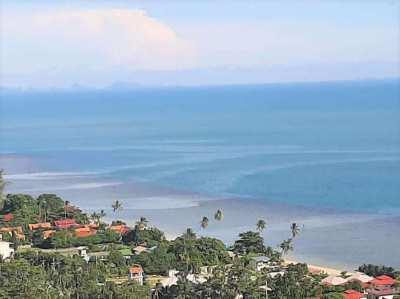 For sale sea view land in Bang Por Koh Samui - 813 sqm and 1.716 sqm