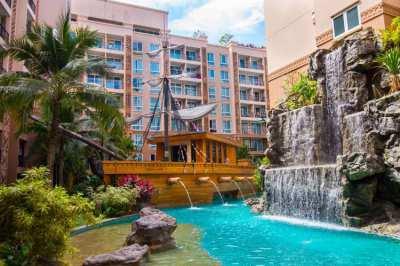 Atlantis Condo Resort Pattaya Ground Floor Apartment with Pool Access
