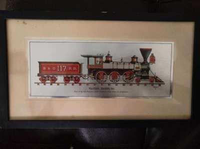 2 Metal Etched Locomotive Prints by Robert Kern (USA)