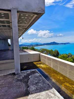 Bare villa with sea view for sale in Chaweng Noi, Koh Samui
