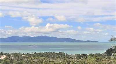 For sale sea view land in Bophut Koh Samui 998 sqm and 2204 sqm