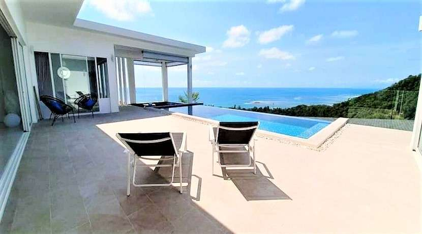 For sale villa 3 bedroom with sea view in Lamai Koh Samui