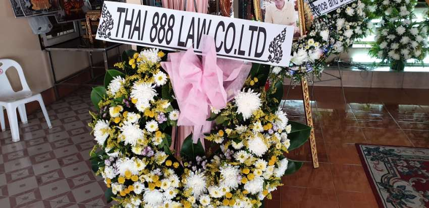 Power of Attorney POA outside of Thailand Law Accounts Funerals