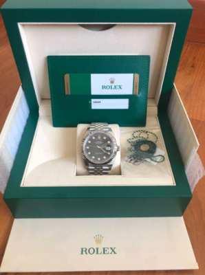 New Rolex Date-just 41mm diamond dial 5 year warranty