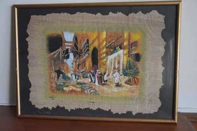 Price Drop! RARE 60 year old original papyrus paintings from Egypt