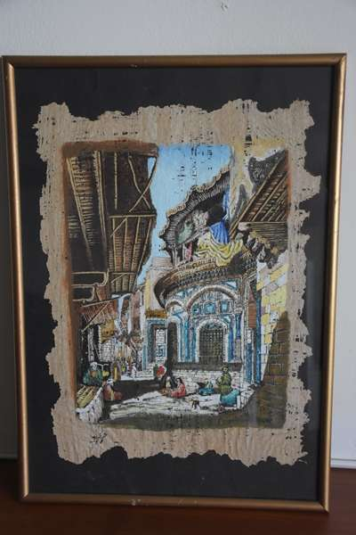 Price Drop RARE: 60 year old original papyrus paintings from Egypt