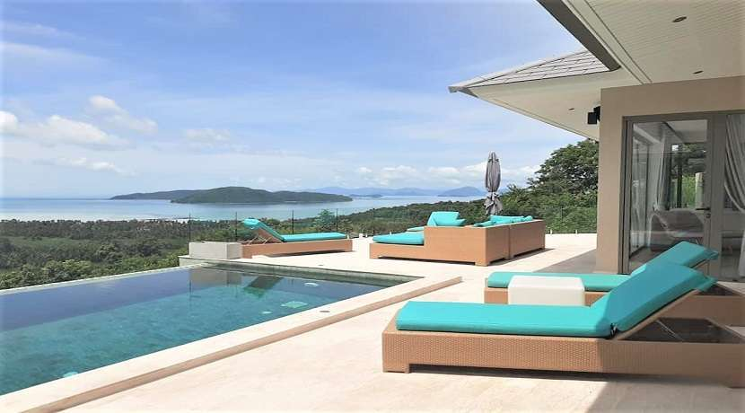 For sale  4 bedroom Sea view villa in Taling Ngam Koh Samui