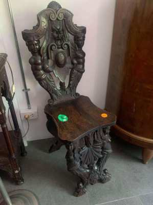 Antique wood carved chair