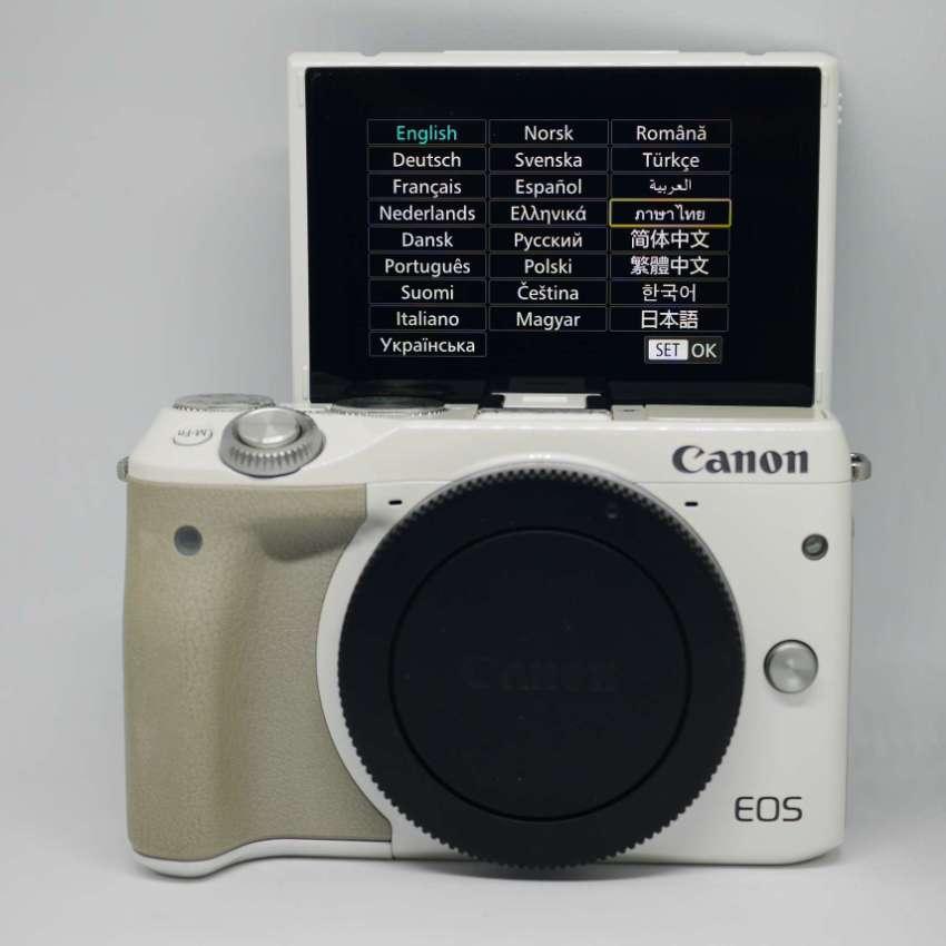 Canon EOS M3 Mirrorless Wi-Fi NFC Camera White Body