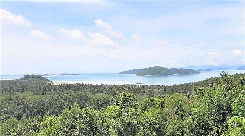 For sale sea view land in Taling Ngam Koh Samui 800sqm to 1600 sqm