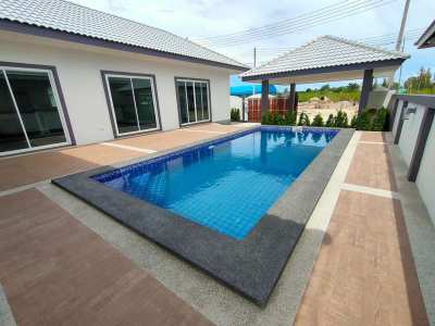 Hot! New German Built 3 BR 3 Bath Pool Villa Near Cha-am Town Center