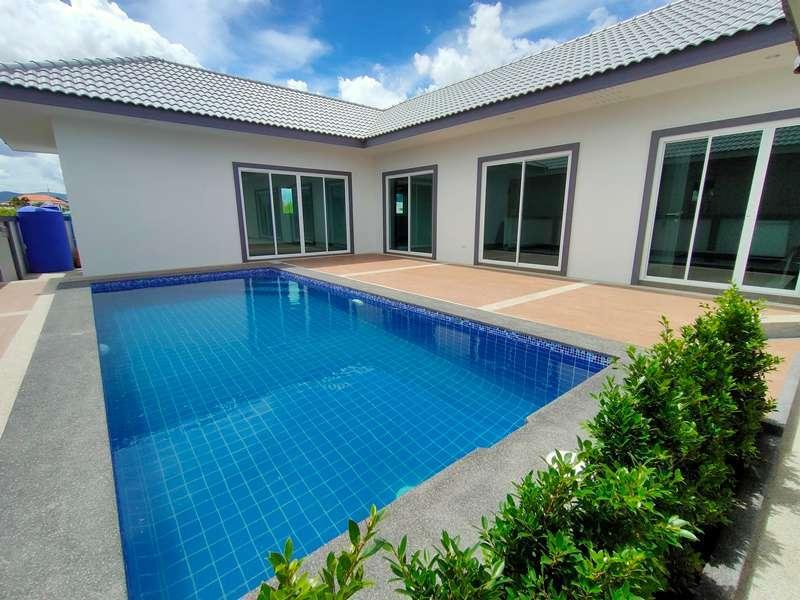 Hot! New German Built 3 BR 3 Bath Pool Villa Near Cha-am Town Center