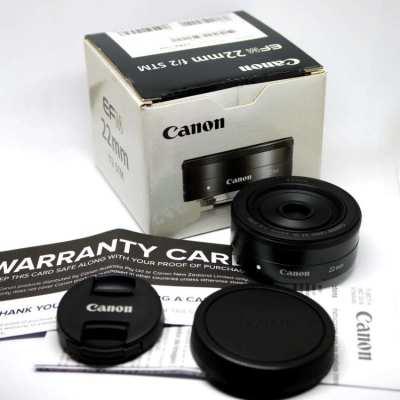 Canon EF-M 22mm f2 STM Lenses